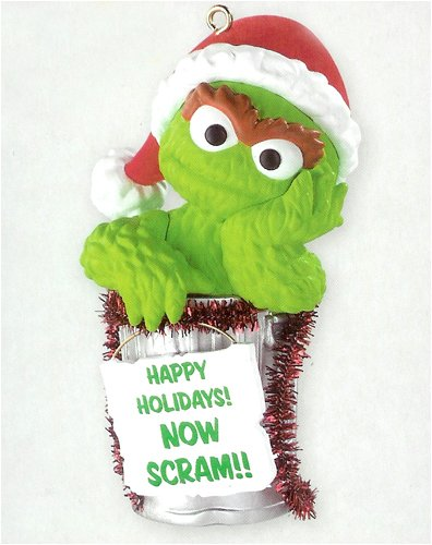 Heirloom Sesame Street Oscar The Grouch Christmas Ornament