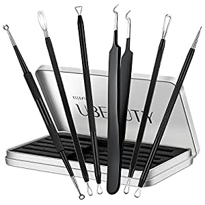 Ellesye Blackhead Remover,6 PCS Pimple Popper Tool with a Metal Storage Box,Stainless Steel Pimple Extractor Blackhead Removal Tool Risk Free Treatment for Blemish,Whitehead Popping,Blemish Acne Zit 2