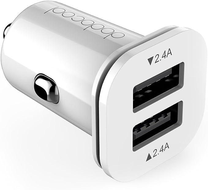 Dodocool 13 2g Mini Auto Ladegerät 24w 4 8a 2 Port Usb Kfz Adapter Für Iphone