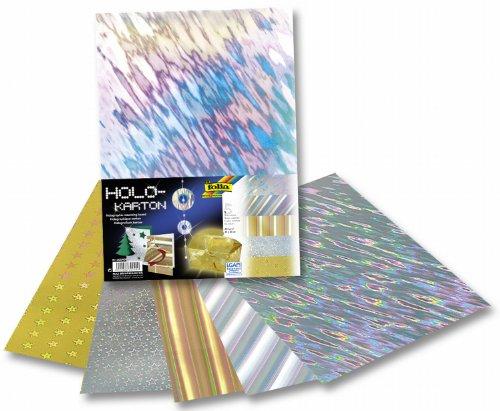 Folia 300409–Holo en carton 230g/m², 25x 35cm, 5feuilles, assortis des images