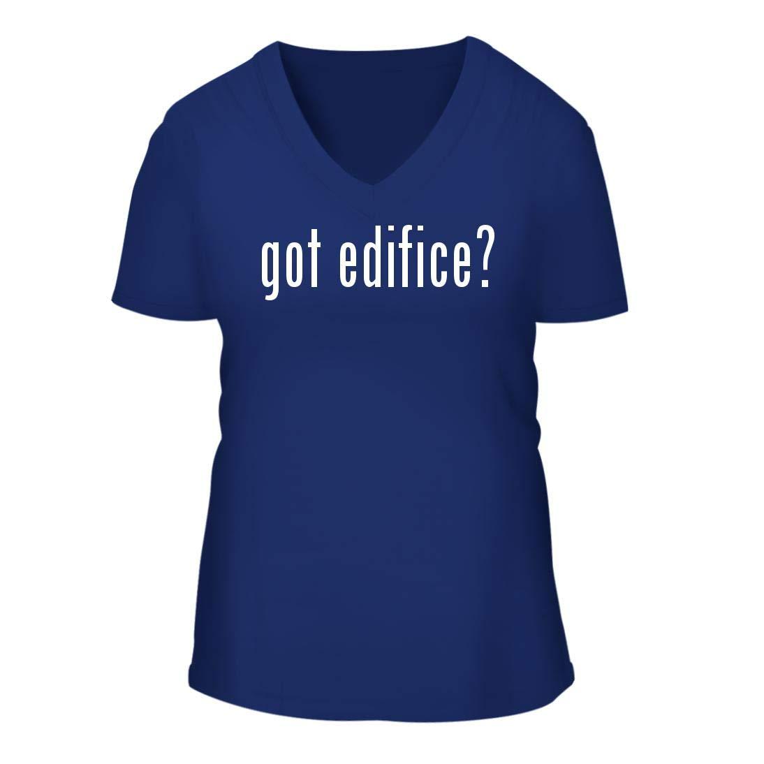 got Edifice? - A Nice Women's Short Sleeve V-Neck T-Shirt Shirt, Blue, Large