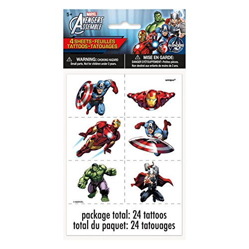 UPC 011179463497, Marvel's Avengers Color Tattoo Sheets [ 4 Per Package]