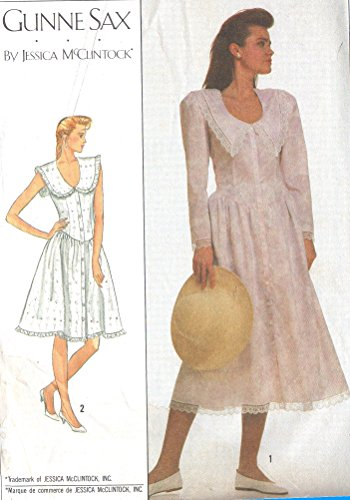 Simplicity vintage 1980s sewing pattern 8671 Gunne Sax dress - Size 6-10 -