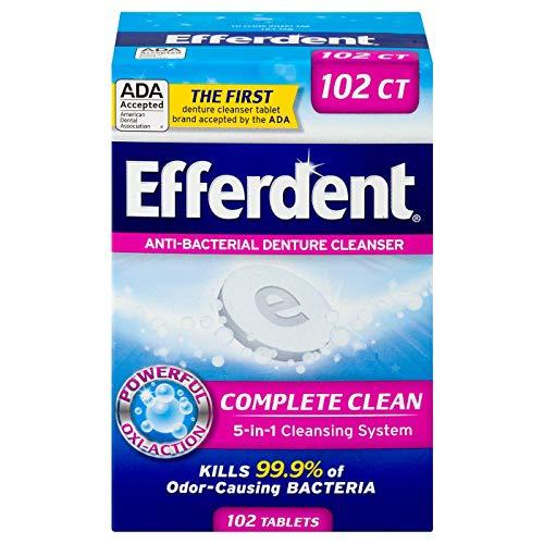 Efferdent Original Anti-Bacterial Denture Cleanser Tablets, 102 Count by Efferdent