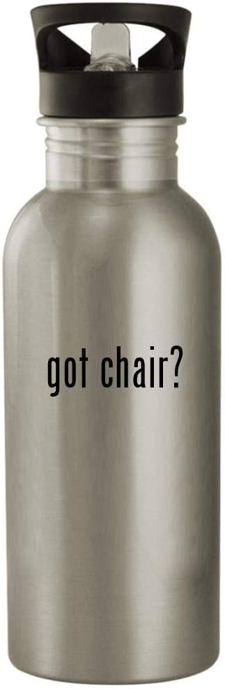 got chair? - 20oz Stainless Steel Outdoor Water Bottle, Silver