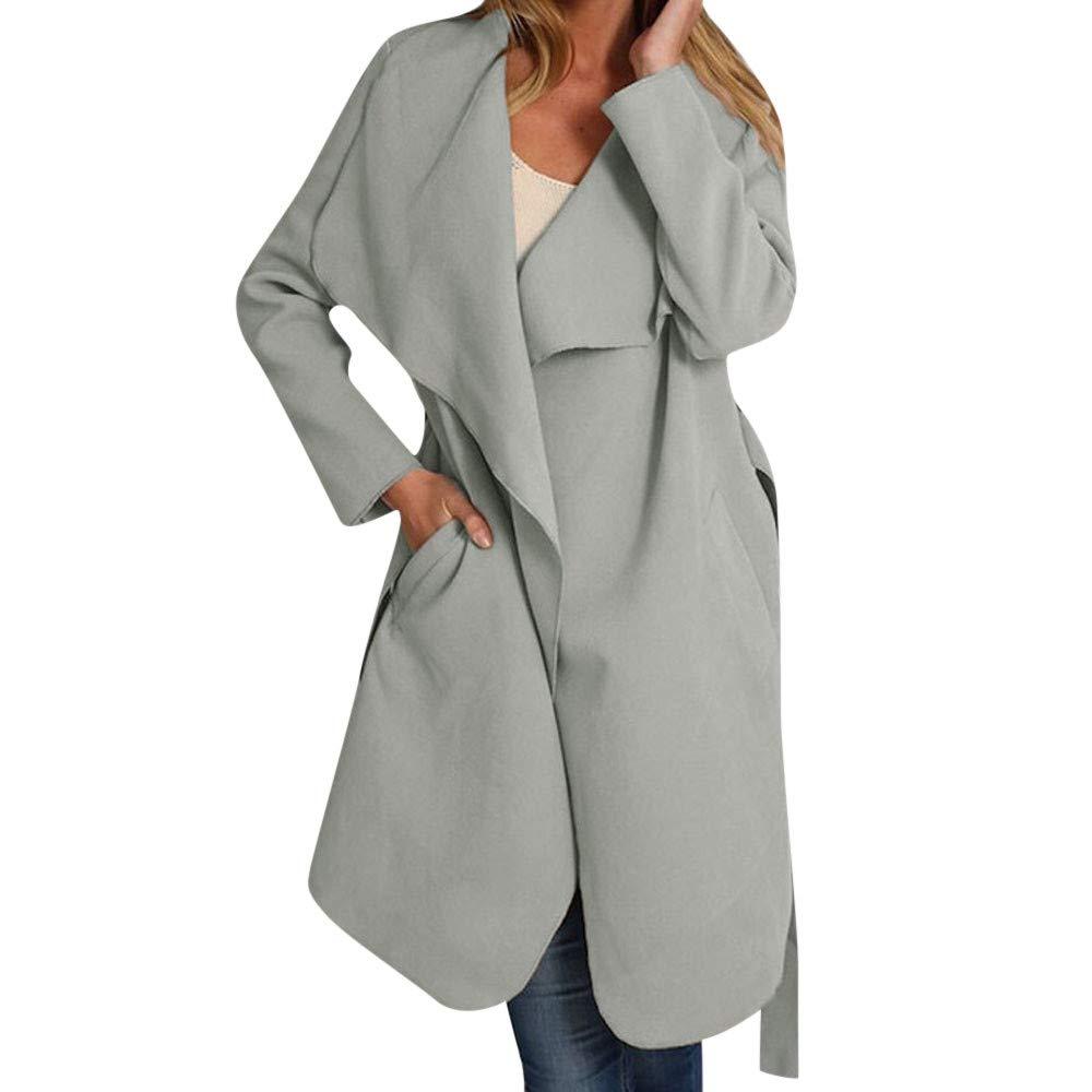 Rambling New Women's Ladies Classics Long Sleeve Cardigan Coat Open Front Jacket Outwear by Rambling