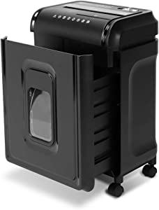 AmazonBasics 8-Sheet High-Security Micro-Cut Shredder with Pullout Basket