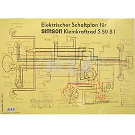 Schaltplan Farbposter (69x49cm) S50 B1 (beidseitig Glanzcello ...