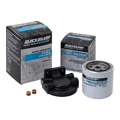 (Quicksilver 802893Q4 Water Separating Fuel Filter - Mercury and Mariner Outboards and MerCruiser Stern Drive and Inboard Engines )
