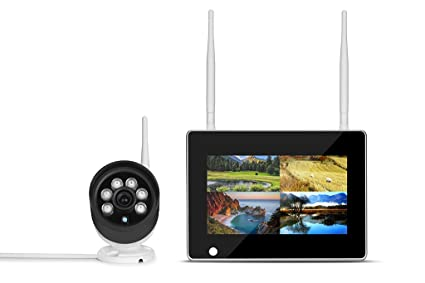 SIPOG Cámara de vigilancia de Seguridad WiFi de 7 Pulgadas Home Monitor NVR Cámara de vigilancia