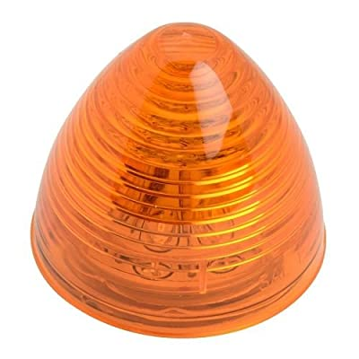 Grand General 81235 2 Inch Beehive Amber/Clear LED Light with S.Rim & Pigtail, 1 Pack: Automotive