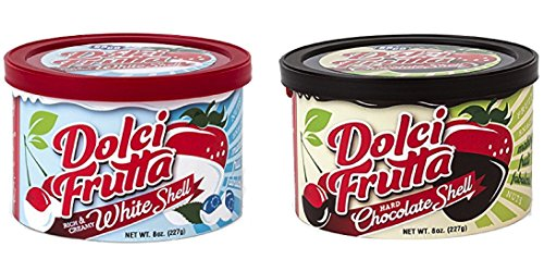 White Chocolate for Strawberries and Chocolate Covered Fruit Shell- (1) White 8 oz (1) Chocolate 8 oz