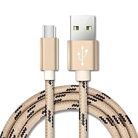 Auntwhale Cable Cargador USB Tipo C de 1.5M Cable Trenzado ...