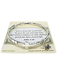 God so Loved the World that. Twist Bangle John 3:16 Charms Bracelet