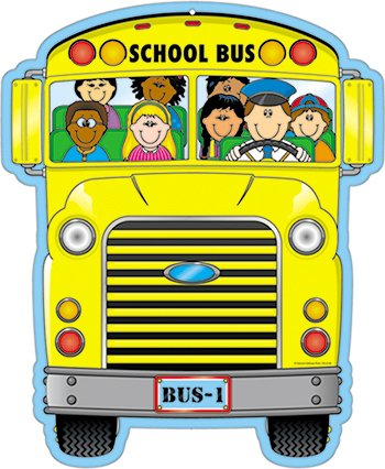 amazon com carson dellosa school bus two sided decoration 4106 rh amazon com City Bus Clip Art School Bus Clip Art