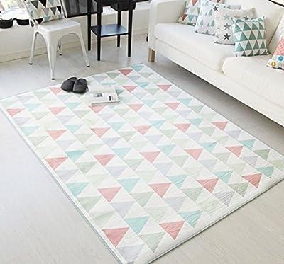 Plaid&Plain Geometry Pattern Bedroom Bathroom Kitchen Door Mat Area Rugs Carpet