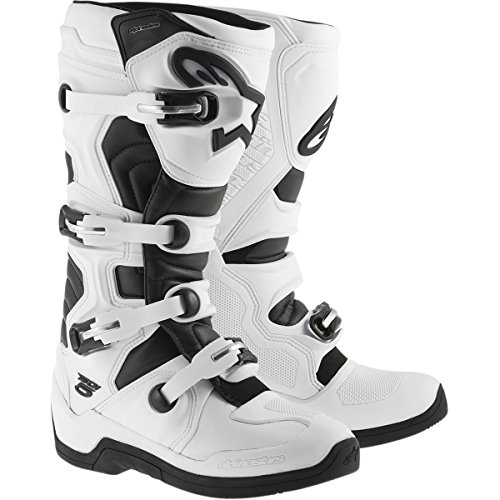 Alpinestars Tech 5 Men's Off-Road Motorcycle Boots - White/Black / 10