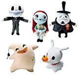 NIGHTMARE BEFORE CHRISTMAS PLUSH SET OF 5. INCLUDES : JACK , SALLY , OOGIE BOOGIE , ZERO , MAYOR by Nightmare Before Christmas