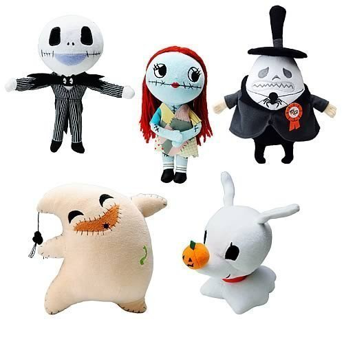 NIGHTMARE BEFORE CHRISTMAS PLUSH SET OF 5. INCLUDES : JACK , SALLY , OOGIE BOOGIE , ZERO , MAYOR by Nightmare Before Christmas by JUN PLANNING