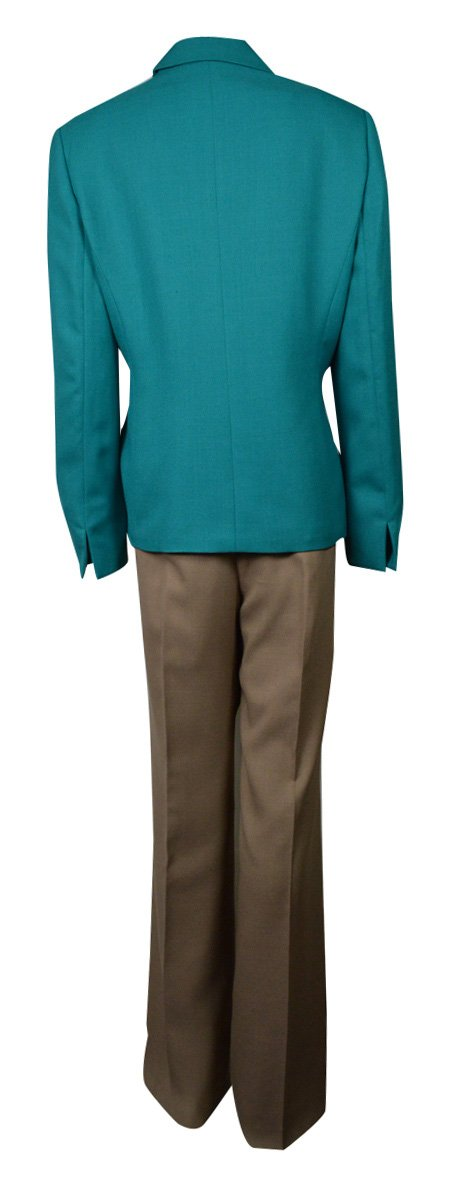 Evan Picone Sand Two Piece Career Women's Pant Suit Green 14 by Evan Picone (Image #2)
