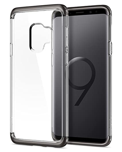 buy popular 612b7 ea265 Spigen Neo Hybrid NC Galaxy S9 Case with Disassemblable Top and Bottom  Frames with Clear Rigid Back for Samsung Galaxy S9 (2018) - Gunmetal