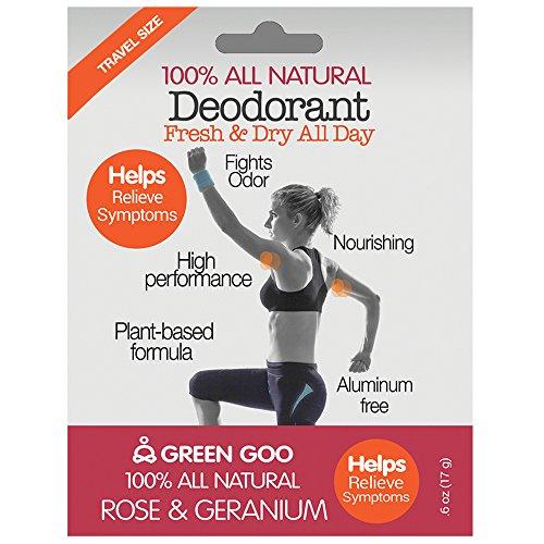 Green Goo Deodorant, Travel Stick, Rose Geranium 3 Piece, 1.8 Ounces by GREEN GOO (Image #2)