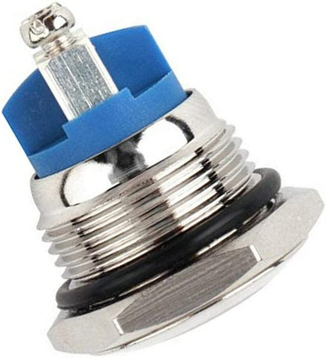 Lecimo 30A Metal Momentary Waterproof 12V 16mm 5//8inch Horn Starter Push Button Switch