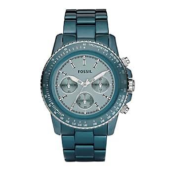 Fossil Women's CH2706 Quartz Chronograph Aluminum Aqua Dial Watch