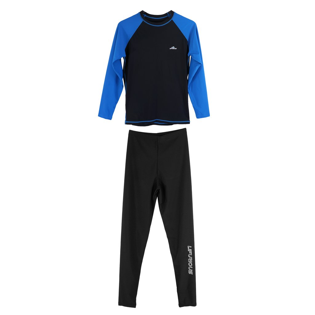 Baoblaze Herren Badehose UV-Schutz Pants Schwimmhose Surfhose mit Langarm  Rash Guard UV-Shirt Badeshirt Schwimmshirt Langarmshirt 8dbf9fb1dd