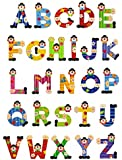 Sevi Holzbuchstaben Clown für Wunschname inkl Geschenkverpackung Türbuchstaben Kinderbuchstaben Holz Dekobuchstaben