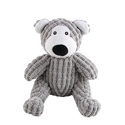 (Langxian Dog Squeaky Plush Tug Toy, Pet Puppy Durable Training Biting Squeak Chew Puzzle Bear Toys for Small,Medium and Large Dogs )