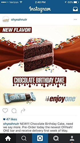 Oh Yeah One Bar Chocolate Birthday Cake BRAND NEW FLAVOR 12 Count