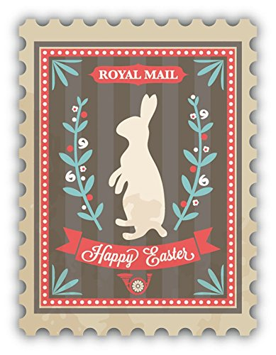 (Happy Easter Royal Postage Stamp Sticker Decal Design 3