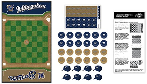 MasterPieces MLB Milwaukee Brewers Checkers Board Game -