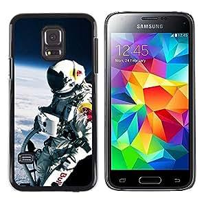 A-type Arte & diseño plástico duro Fundas Cover Cubre Hard Case Cover para Samsung Galaxy S5 Mini, SM-G800 (Red Bll Espacio Jump)