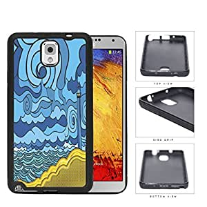 Psychedelic Aqua Seashore Lighthouse Rubber Silicone TPU Cell Phone Case Samsung Galaxy Note 3 III N9000 N9002 N9005