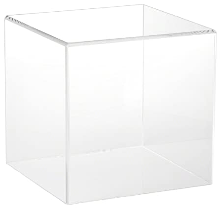 Plymor Clear Acrylic Display Case with No Base, 8 x 8 x 8