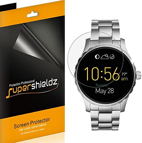 [6-Pack] Supershieldz for Fossil Q Marshal Screen Protector [Full Screen Coverage] High Definition Clear Shield -Lifetime Replacements - Marshal The