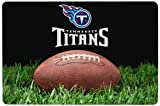 NFL Tennessee Titans Classic Football Pet Bowl Mat, Large