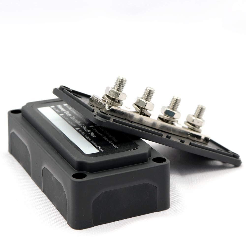Heavy Duty 4 Way Bus Bar Power Distribution Box 300A Modular Box Design Easy Wiring Wonfiguration by ZIJIA (Image #3)
