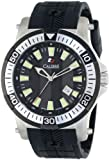 """Calibre Men's SC-4H1-04-007 """"Hawk"""" Stainless Steel and Black Rubber Watch, Watch Central"""