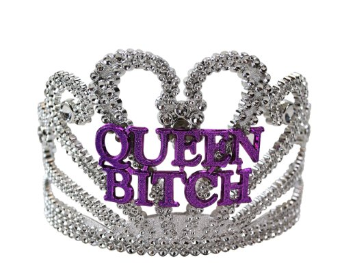 BigMouth Inc Queen Bitch Tiara, Plastic Novelty Tiara, Hilarious for Birthdays, Parties and More