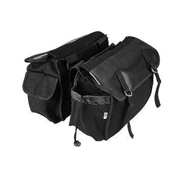 Amazon.com: Bolsa de sillín para moto, alforjas para ...
