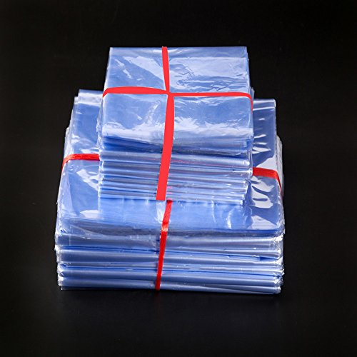 10x25cm (3.9×9.8) 200 Pieces Retail PVC Heat Shrink Wrap Film Bag Heat Seal Packing Bag Clear Plastic Polybag Gift Handmade Soaps Cosmetics Packagin…