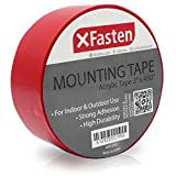 #9: XFasten Acrylic Mounting Tape, 2-Inch x 450-Inch - Outdoor and Indoor Super Strong Double Sided Weatherproof Mounting Tape, Removable