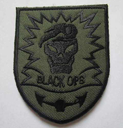 Call of Duty Black Ops Military Patch Fabric Embroidered Badges Patch Tactical Stickers for Clothes with Hook & Loop -
