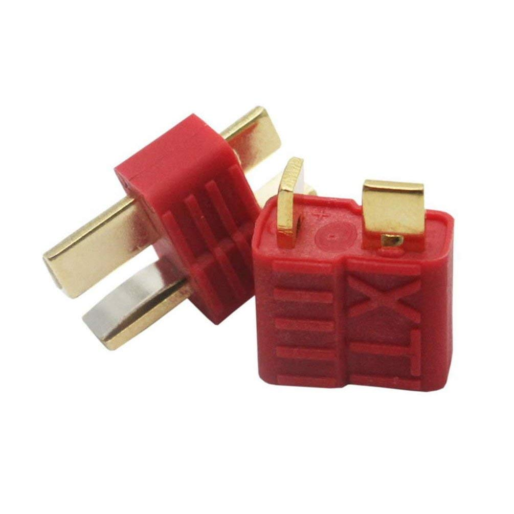 New T-Plug Non-Slip Connector Female Deans for Lipo Battery RC Red