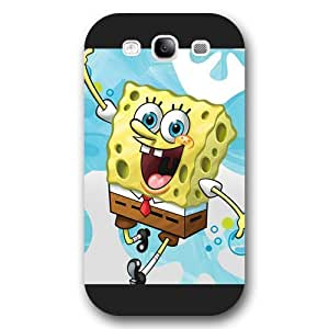 UniqueBox Customized Black Frosted Samsung Galaxy S3 Case, SpongeBob SquarePants Patrick Star Samsung S3 case, Only fit Samsung Galaxy S3