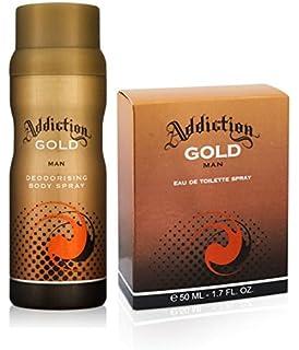 Addiction Gold Mens Eau De Toilette Spray 50ml Amazoncouk Health