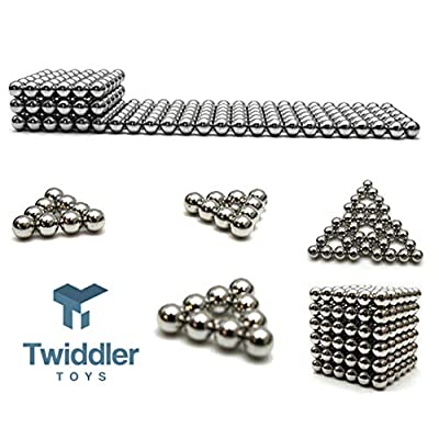 Twiddler Toys Magnetic Balls 5mm 216pcs with Storage Bag – Satisfying Fidget Magnets Desk Toy for Adults: Toys & Games